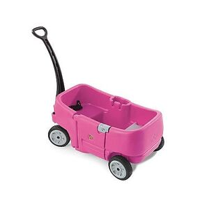 Brouette step 2 rose/ chariot 2 places/ wagon for 2 pink