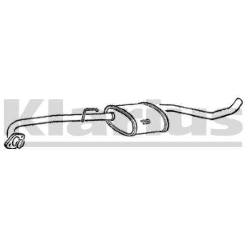 1x KLARIUS OE Quality Replacement Middle Silencer Exhaust For VAUXHALL, OPEL