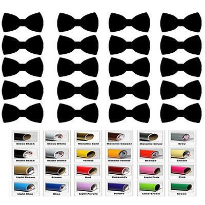 30 bow ties stickers boy gender reveal baby boy shower decor cup car wall Party ()