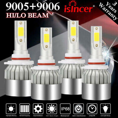 9005 + 9006 LED Headlights Bulb Kit for Honda Civic 2004-2013 Odyssey 2005-2010