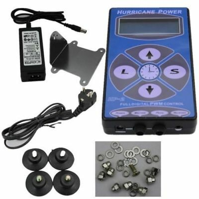 LCD Hurricane Digital Display Tattoo Power Supply Maschine Netzteil Netzgerät DE Digitale Tattoo Power Supply