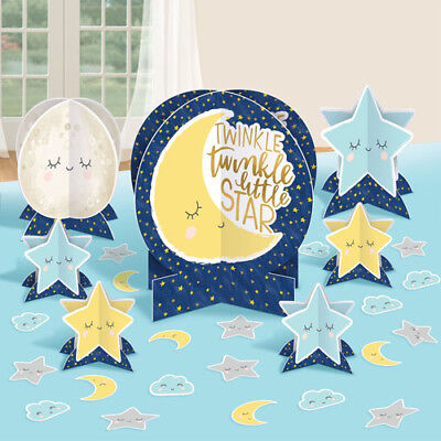 BABY SHOWER Twinkle Twinkle Little Star TABLE DECORATING KIT ~ Party Supplies - Twinkle Little Star Baby Shower