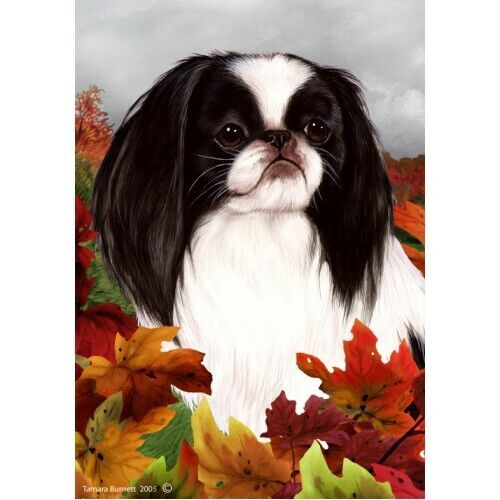 Fall House Flag - Japanese Chin 13133