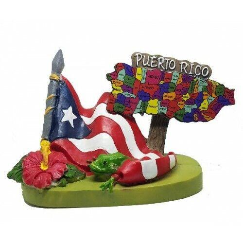 PUERTO RICO MAP TABLE SOUVENIR BORICUA PR RICAN