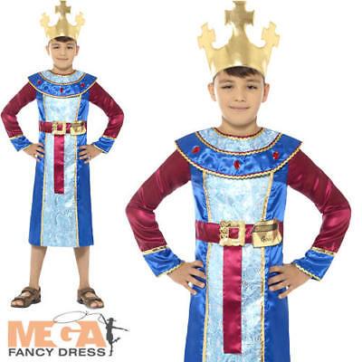 King Melchior Boys Fancy Dress Christmas Nativity Wise Man Childrens Kid Costume (Childrens King Costume Nativity)