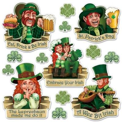 St Patrick's Day Cutout Set #2 St Patrick's Day Party Supplies