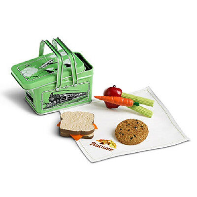 "American Girl KIT'S SCHOOL LUNCH for 18""  Dolls Lunchbox Food Kit Retired NEW"