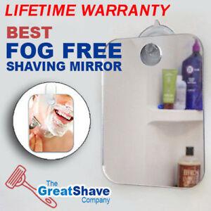 Anti Fog Shower Mirror Bathroom No Fog Shaving Fogless Suction Cup Mount