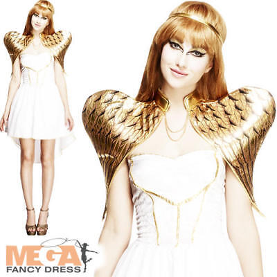 Fever Glamorous Angel Ladies Fancy Dress Womens Adult Halloween Costume Outfit