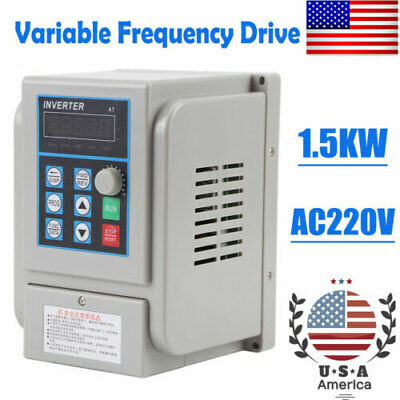 1.5KW 3HP VFD 8A 220V SINGLE PHASE SPEED VARIABLE FREQUENCY DRIVE INVERTER