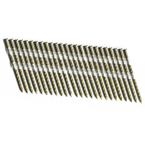 "Duo-Fast SL15 3"" x .120"" Screw Full Round Head Strip Nails  (Pack of 2,500)"