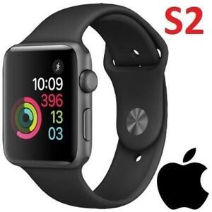 RFB APPLE WATCH SERIES 2 42MM MP062LL/A 243236824 SPACE Grey Aluminum Case with Black Sport Band REFURBISHED