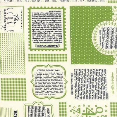 ie Exchange Christmas Mix Fabric Green 5620-17 Measure Stir (Christmas Cookie Exchange)