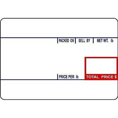 Cas Label Printing Scale (CAS LST-8010 Printing Scale Label, 58 x 40 mm, UPC12 Rolls Per Case  )