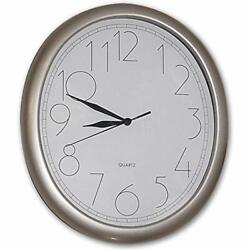 Manufacturers' Select ITC 10 by 12 Infinity Quartz Oval RV Wall Clock (White)