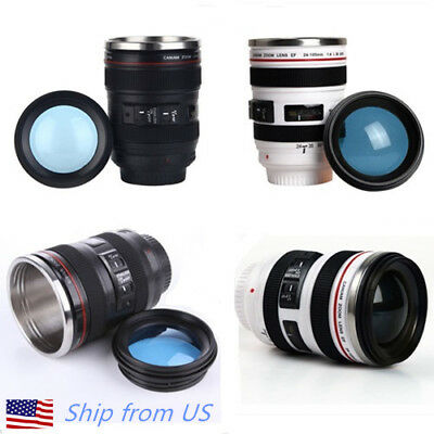 Camera Lens 24 105Mm Travel Coffee Mug   Cup With Drinking Lid Best Gift
