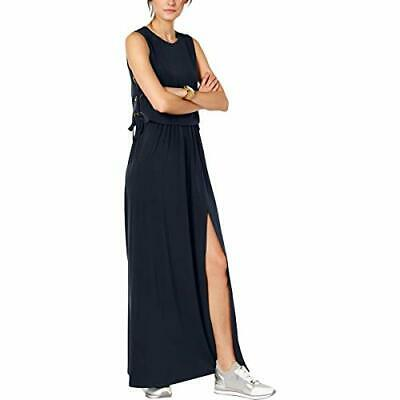 Michael Michael Kors Women's Grommet Lace-Up Maxi Dress Navy Size Small S