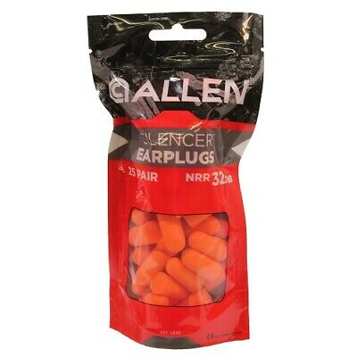Allen 2342 Orange Foam 25 Pair Safety Shooting Protection Ear Plugs
