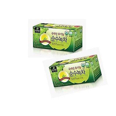 [Nokchawon] Korean Organic Pure Green Tea 1.2g x 25 teabags 2 Box made in Korea