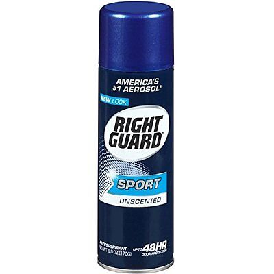 6 Pack Right Guard Sport Anti Perspirant Deodorant Spray Unscented 6oz (Sport Anti Perspirant Deodorant Spray)