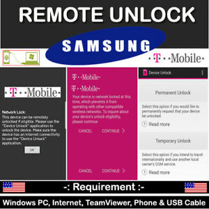 T-MOBILE FACTORY SIM UNLOCK APP CODE SERVICE SAMSUNG GALAXY NOTE 8 7 S8/S8+ PLUS