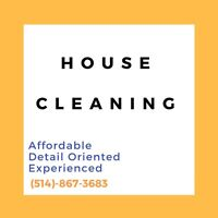 House Cleaning | Femme de ménage | DETAILED AND EXPERIENCED