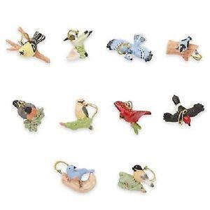 LENOX ~ 10 GARDEN BIRDS Miniature ORNAMENTS  ~ Spring ~ NIB  NO TREE ~ Free Ship