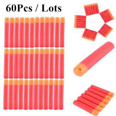 60PCS 9.5CM Soft Refill Foam Bullet Darts For Nerf N-Strike Elite Mega Toy Gun