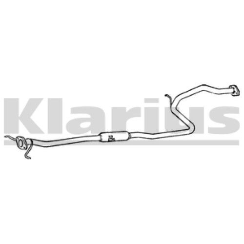 1x KLARIUS OE Quality Replacement Middle Silencer Exhaust For KIA Petrol