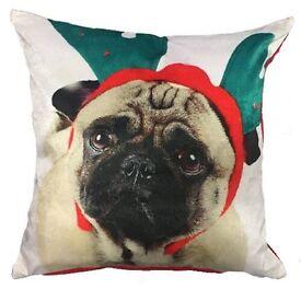 Pug cushion cover