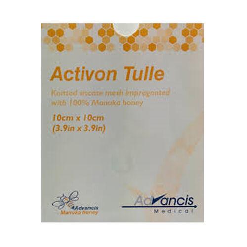 Activon Tulle Manuka Honey dressings  10cm x 10cm