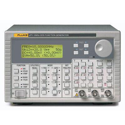 Fluke 271-u 115v High-stability Dds Function Generator 10 Mhz