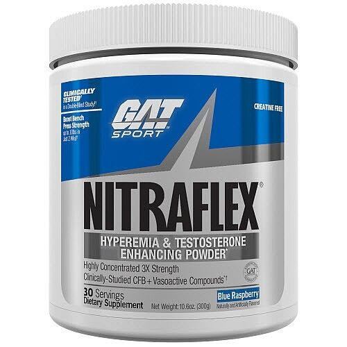 GAT NITRAFLEX Powerful Pre-Workout Testosterone Booster 30 S