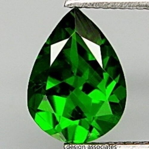 CHROME DIOPSIDE 8 x 5 MM PEAR CUT OUTSTANDING GREEN COLOR ALL NATURAL