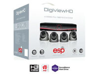ahd cct security camera kit system dvr smart phone view