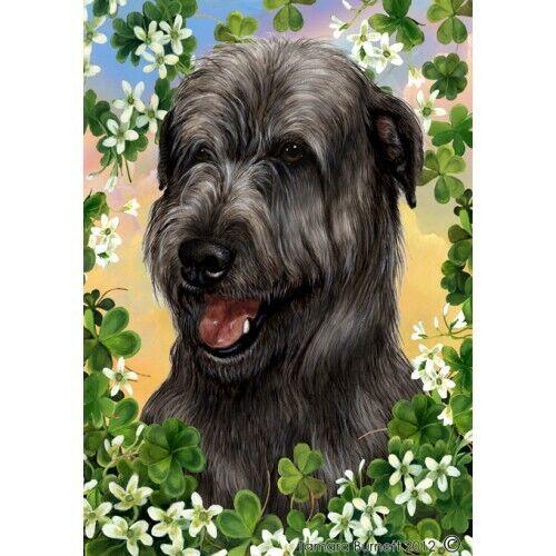 Clover House Flag - Black Irish Wolfhound 31164