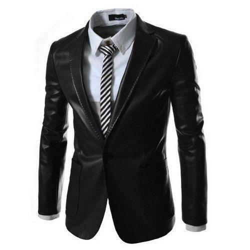 leather suit jacket ebay