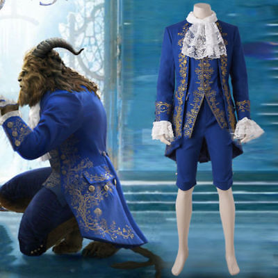 HOT Anime Beauty and the Beast Movie Prince Cosplay Costume Complete Outfits men (The Beast Costume)