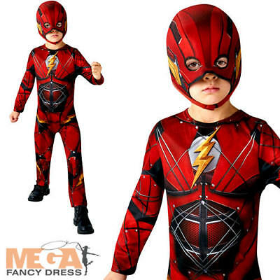 The Flash Boys Fancy Dress Superhero Kids Childrens Costume Halloween Outfit - The Flash Kids