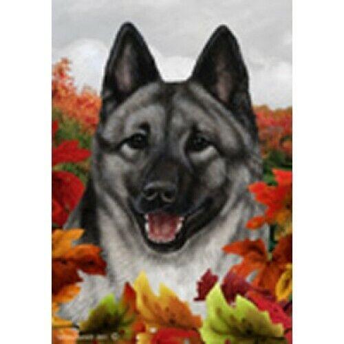 Fall House Flag - Norwegian Elkhound 13403
