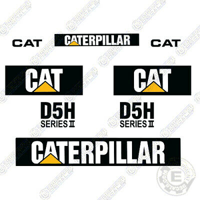 Caterpillar D5h Series Ii Decal Kit Bulldozer Replacement Decals