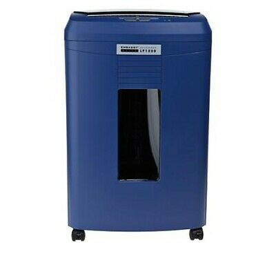 Embassy Elite 12-sheet Microcut Shredder W120-sheet Auto Feed Holder-blue