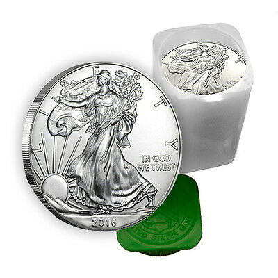 2016 1 oz Silver American Eagle Coins BU (Lot, Roll, Tube of 20)