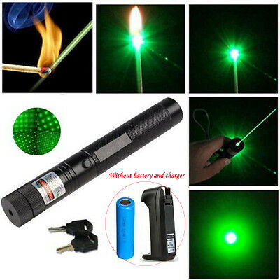 303 Pointer Burning Laser Lazer Pen Beam Light Adjustable Focus 532nm 1mw Green