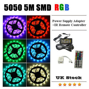 5050-5M-RGB-SMD-LED-Strip-Light-44Key-IR-Remote-Controller-Power-Supply-Adapter