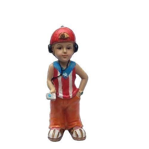"""Puerto Rico Flag & Boy Home Decorative Souvenirs Boricua & Rican 6"""" Inches"""