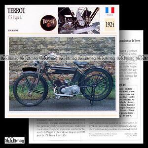 #049.06 TERROT 175 TYPE L 1924 Fiche Moto Classic Motorcycle Card - France - État : Occasion: Objet ayant été utilisé. Consulter la description du vendeur pour avoir plus de détails sur les éventuelles imperfections. ... - France