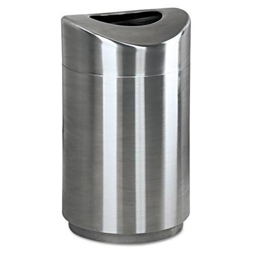 Rubbermaid 30-Gal. Curved Waste Receptacle (Steel) R2030SSPL NEW