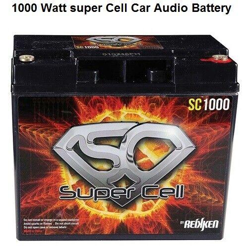 Car Audio Super Cell Battery Energie SC1000 12 V Volt 1000 Watt Sealed Reikken