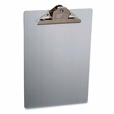 Sparco Aluminum Clipboard - 8.50 X 12 - Clamp - Aluminum - Silver Spr86259